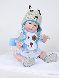 お買い得  -FeelWind リボーンドール 赤ちゃん(男) 20 インチ フルボディシリコーン - 生き生きとした, 人工インプラントブラウンアイズ 子供 男の子 ギフト