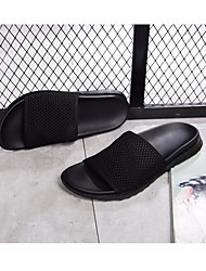 cheap -Men's Shoes Mesh Summer Comfort Slippers & Flip-Flops Black / Black / Red