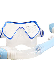 billiga Sport och friluftsliv-SABOLAY Snorklingspaket / Dykning Paket - Dykmaske, Snorkel - Anti-dimma, Vattentät, Torrdräkt – överdel Dykning, Snorkelfenor Silikon