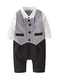 お買い得  -赤ちゃん 男の子 プリント 長袖 ワンピース
