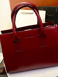 cheap -Women's Bags PU(Polyurethane) Tote Zipper Black / Beige / Wine