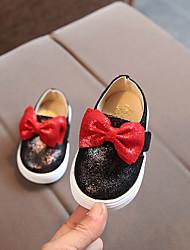 abordables -Fille Chaussures Matière synthétique Printemps été Confort Mocassins et Chaussons+D6148 Noeud / Scotch Magique pour Bébé Noir / Argent / Rose