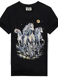 cheap -Men's Basic T-shirt - Color Block / Animal Print