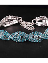 billiga -Dam Lager-på-lager Armband av Remmar - Ljuv, Elegant Armband Vit / Blå / Rosa Till Bröllop Datum