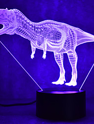 Недорогие -1 комплект 3D ночной свет Поменять USB Сенсорный датчик / Меняет цвета / С портом USB