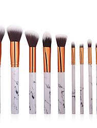 baratos -Conjunto - 10 Pincéis de maquiagem Profissional Pincel de Delineador de Olhos Pincel para Blush Pincel para Base Pincel para Pó Cobertura Total / sintético Plástico