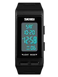 cheap -SKMEI Women's Sport Watch Japanese Digital 30 m Water Resistant / Water Proof Alarm Calendar / date / day PU Band Digital Casual Fashion Black / White / Blue - Red Green Blue One Year Battery Life