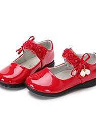 Недорогие -Девочки Обувь Полиуретан Весна лето Удобная обувь / Детская праздничная обувь На плокой подошве Для прогулок Бант / На липучках для Дети