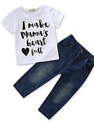 abordables -bébé Garçon Imprimé Manches Courtes Ensemble de Vêtements