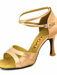 "economico -Scarpe da ballo - Disponibile ""su misura"" - Donna - Latinoamericano - Customized Heel - Satin -Nero / Blu / Marrone / Giallo / Rosa /"