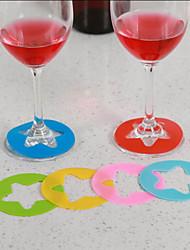 Недорогие -Товары для бара / изделия из стекла / Инструменты для барменов и сомелье пластик, Вино Аксессуары Высокое качество творческий for Barware Удобный 6шт
