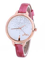 baratos -Xu™ Mulheres Relógio Elegante / Relógio de Pulso Chinês Criativo / Relógio Casual / Adorável PU Banda Casual / Fashion Preta / Azul / Vermelho / imitação de diamante / Mostrador Grande / Um ano