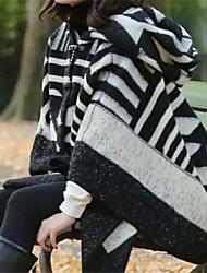 abordables -Mujer Separado Rectángulo - Vintage / Vacaciones Estampado Blanco y Negro