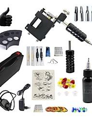 baratos -BaseKey Máquina de tatuagem Conjunto de Principiante - 1 pcs máquinas de tatuagem com 1 x 30 ml tintas de tatuagem, Silenciozo, Ajustável, Carga Rápida Liga de Alúminio Tomada de Potência Capa Inclusa