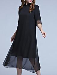cheap -Women's Chinoiserie Shift Dress Mesh