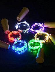 Недорогие -6 шт. 15-светодиодный 0.75 м медный провод свет шнура с бутылкой пробкой для стеклянной бутылки ремесла фея валентина свадебные украшения лампы ну вечеринку