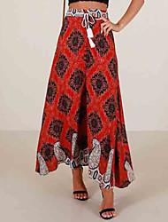 cheap -Women's Going out / Beach A Line / Swing Skirts - Floral High Waist