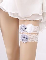 baratos -Renda Casamento / De Renda Wedding Garter  -  Floral Ligas Casamento / Ocasião Especial