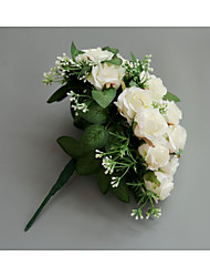 Недорогие -Свадебные цветы Букеты Свадьба / Свадебные прием Ткань 11-20 cm