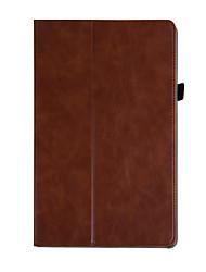 abordables -Funda Para Huawei MediaPad M5 8 Soporte de Coche / con Soporte / Origami Funda de Cuerpo Entero Un Color Dura Cuero de PU para MediaPad