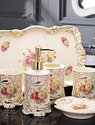 baratos -Jogo de Acessórios para Banheiro Novo Design / Criativo Modern Cerâmica 6pcs - Banheiro Solteiro (L150 cm x C200 cm)