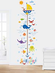 Недорогие -Декоративные наклейки на стены / Линейка роста - Простые наклейки Животные Гостиная / Спальня / Ванная комната