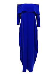 cheap -women's going out cotton slim swing dress maxi strapless