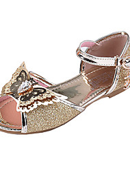 abordables -Fille Chaussures Polyuréthane Printemps & Automne Chaussures de Demoiselle d'Honneur Fille Sandales Noeud / Boucle pour Enfants Argent / Bleu / Rose / Bout ouvert / Soirée & Evénement