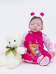 baratos -FeelWind Bonecas Reborn Bebês Meninas 22 polegada Silicone de corpo inteiro / Vinil - realista de Criança Para Meninas Dom