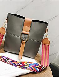 baratos -Mulheres Bolsas PU Conjuntos de saco 2 Pcs Purse Set Vazados Cinzento Claro / Marron / Cinzento Escuro