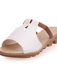 povoljno -Žene Cipele PU Ljeto Udobne cipele Papuče i japanke Kockasta potpetica Bež / Plava / Pink