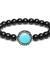 abordables -Femme Zircon Bracelets de rive - Naturel, Elégant Bracelet Noir / Marron / Turquoise Pour Cadeau / Rendez-vous