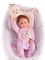 Недорогие -FeelWind Куклы реборн Кукла для девочек Девочки 20 дюймовый Полный силикон для тела - как живой Ручная работа Безопасно для детей Non Toxic Взаимодействие родителей и детей Ручной корневой мохер