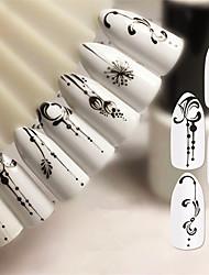 abordables -5 pcs Autocollants Manucure Manucure pédicure Dentelle Décalques pour ongles Usage quotidien / Festival