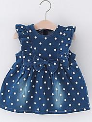 cheap -Baby Girls' Polka Dot Sleeveless Dress