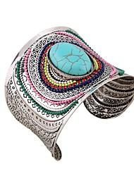 Недорогие -Жен. Браслет разомкнутое кольцо - Цветы Праздник, Мода, Крупногабаритные Браслеты Черный / Синий Назначение Для вечеринок / Свидание