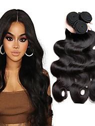 economico -3 pacchetti Peruviano Ondulato Cappelli veri Ciocche a onde capelli veri / Estensore / Bundle di capelli 8-28 pollice Colore Naturale Tessiture capelli umani A macchina Classico / Migliore qualità