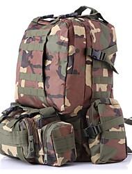 Недорогие -55 L Рюкзаки / Заплечный рюкзак - Быстровысыхающий, Пригодно для носки На открытом воздухе Пешеходный туризм, Походы Нейлон Серый, Камуфляжный, Хаки