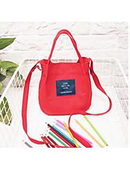 baratos -Mulheres Bolsas Tela de pintura Tote Ziper Rosa / Amarelo / Verde Claro