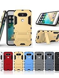 cheap -Case For LG LG V20 MINI with Stand Back Cover Solid Colored Hard PC for LG V20 MINI