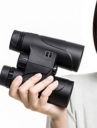baratos -10 X 42 mm Binóculos Revestimento Multi-Resistente Preto Campismo / Escursão / Espeleologismo / Revestimento Múltiplo Total