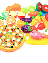 cheap -Pretend Play Food Fruit Parent-Child Interaction Plastic Shell Preschool All Boys' Girls' Toy Gift 24 pcs