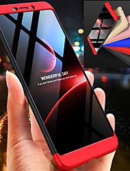 Недорогие -Кейс для Назначение Nokia Nokia 6 2018 Защита от удара Чехол Однотонный Твердый ПК для Nokia 6 2018
