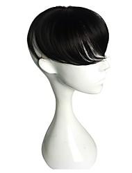 Недорогие -Муж. Искусственные волосы Накладки для мужчин Прямой Без шапочки-основы синтетический / Природные волосы