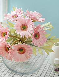 Недорогие -Искусственные Цветы 7 Филиал Классический / Односпальный комплект (Ш 150 x Д 200 см) Простой стиль / Свадебные цветы Хризантема / Вечные цветы Букеты на стол