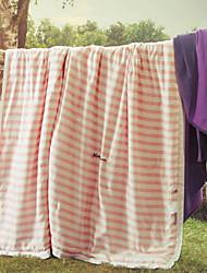 baratos -Confortável - 1 Colcha Verão Microfibra / Polipropileno Listrado