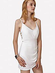 povoljno -Žene Bodycon Haljina - Otvorena leđa, Jednobojni Iznad koljena / Asimetričan