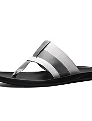cheap -Men's Shoes Canvas Summer Comfort Slippers & Flip-Flops White / Black