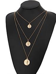 Недорогие -Жен. Слоистые ожерелья - Мода, Цыганский Золотой, Серебряный 60 cm Ожерелье 1шт Назначение Для вечеринок, Повседневные