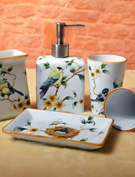 Недорогие -Набор аксессуаров для ванной Новый дизайн / Творчество Modern Керамика 5 шт. - Ванная комната Односпальный комплект (Ш 150 x Д 200 см)